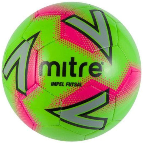 Mitre Impel Futsal Ball - GRN/PNK