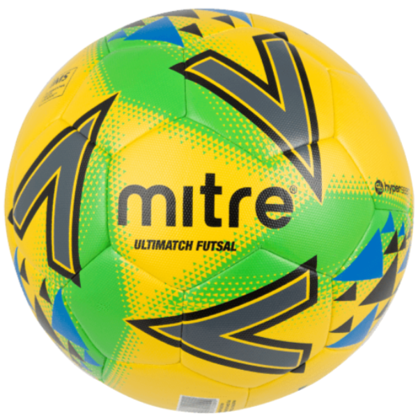 Mitre Ultimatch Futsal Ball - YLW/GRN