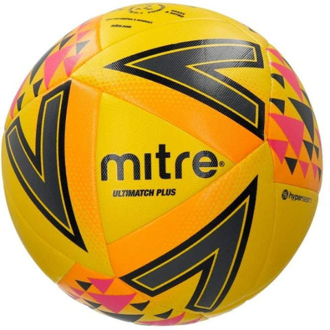 Mitre Ultimatch Plus Football - YLW/BLK