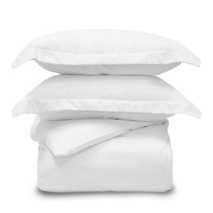 Lux 3 Piece King/California King White Duvet Cover Sham and Set