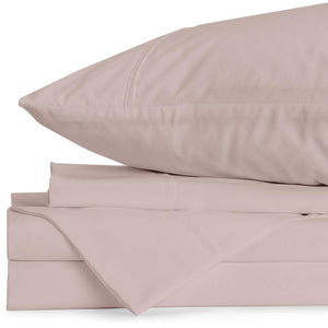 Lux Adjustable (Split) King Blush Sheet Set