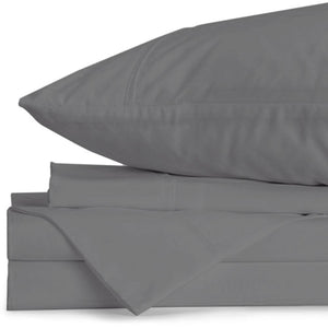 Lux California King Graphite Sheet Set