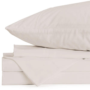 Lux Queen Ivory Sheet Set