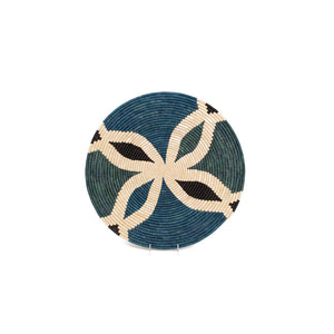 Cool Color Blocked Extra Large Raffia Plate