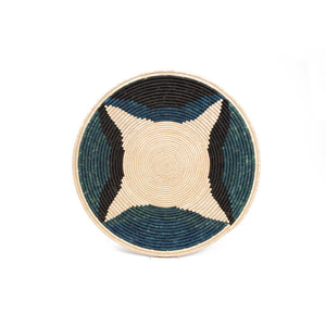 Cool Color Blocked Jumbo Raffia Plate