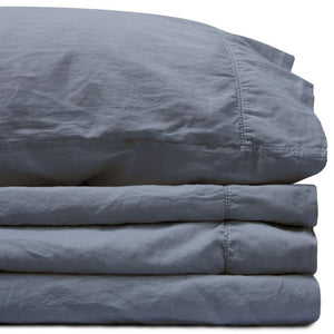 Sateen Twin XL Deep Pacific Sheet Set