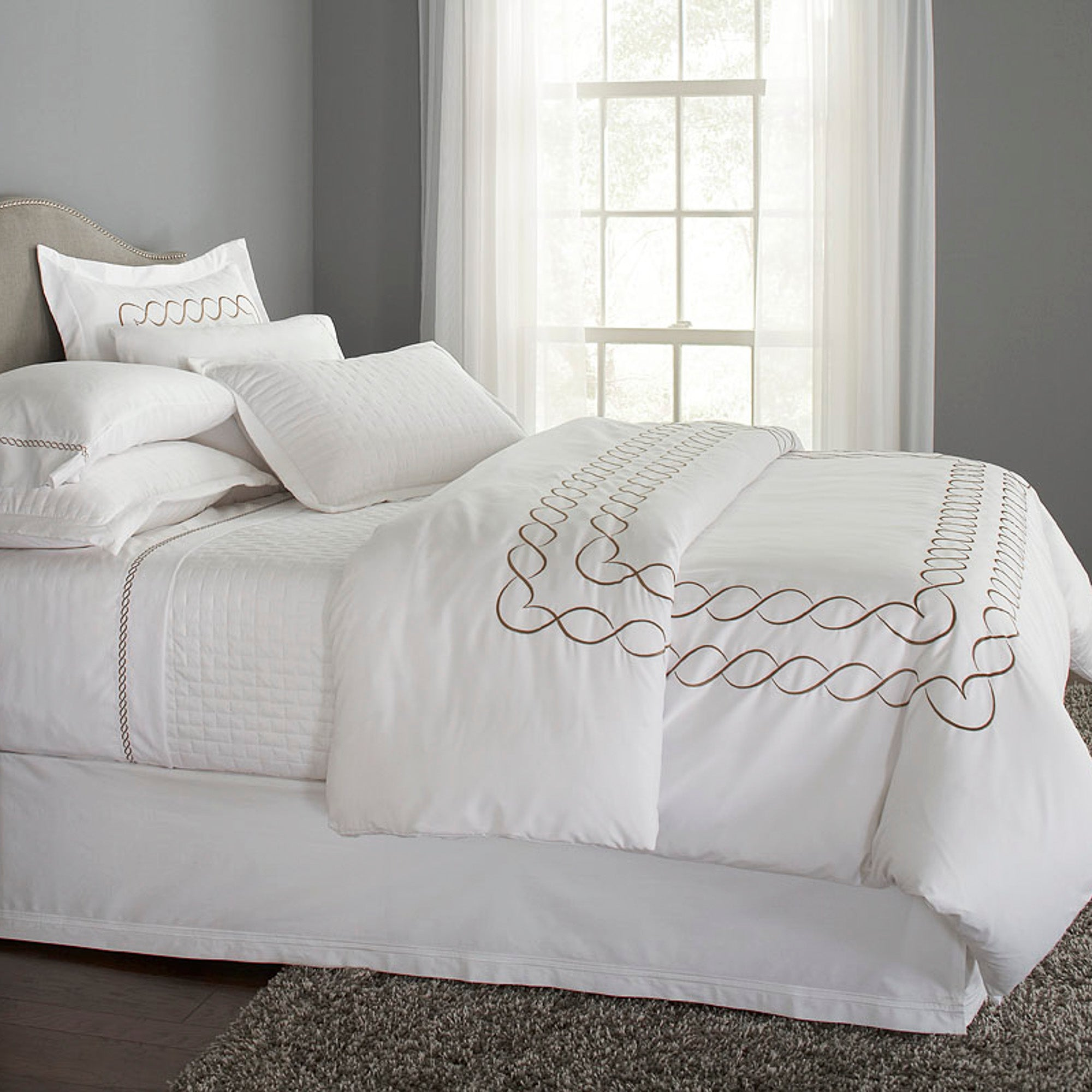 Eternal Collection Embroidered Duvet Cover Home By