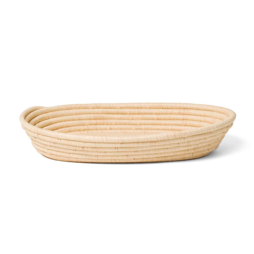 Large Oval Natural Raffia Catch All
