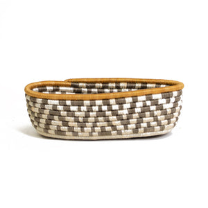 Light Taupe Oval Basket