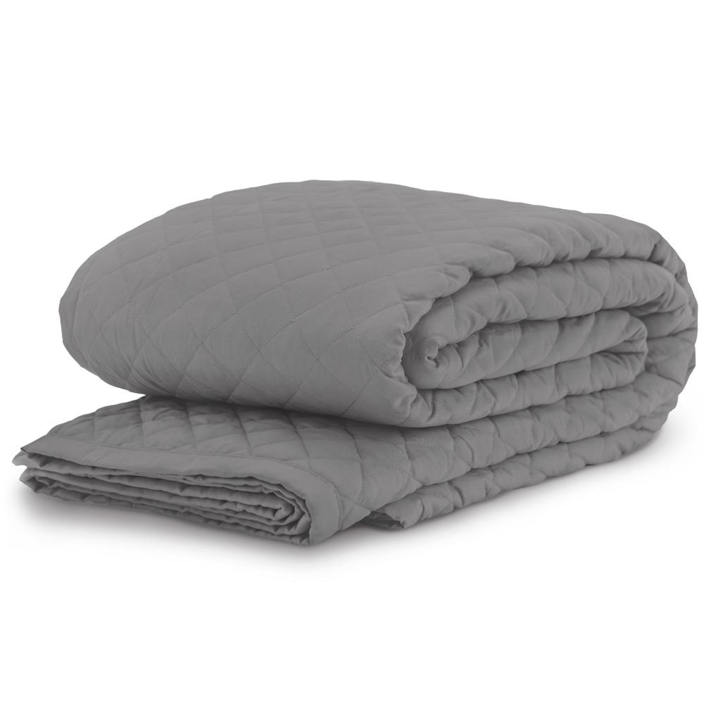 Diamond Graphite King/California King Coverlet