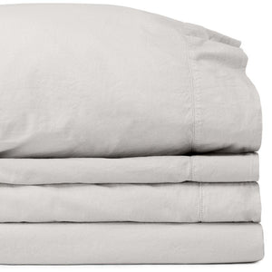 Percale Adjustable (Split) King Mist Sheet Set