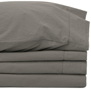 Percale Adjustable (Split) King Smoke Sheet Set