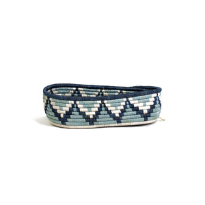 Silver Blue Oval Basket I
