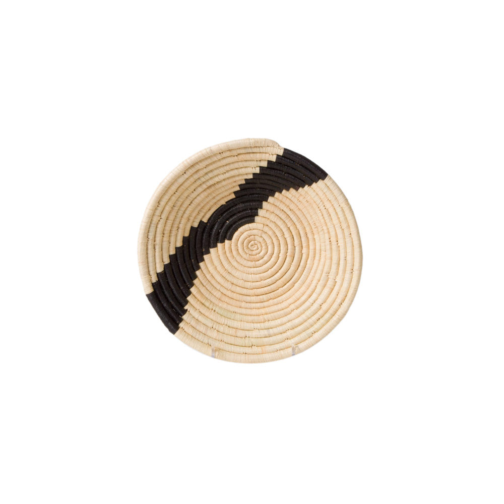 Striped Black + Natural Medium Bowl