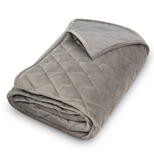 Velvet Diamond Graphite Queen Coverlet