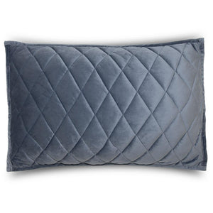Velvet Dusty Indigo King Sham