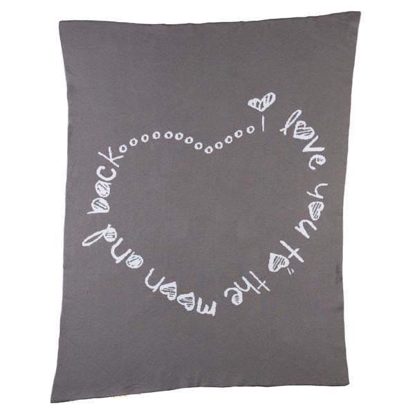 Infinite Love Knitted Blanket