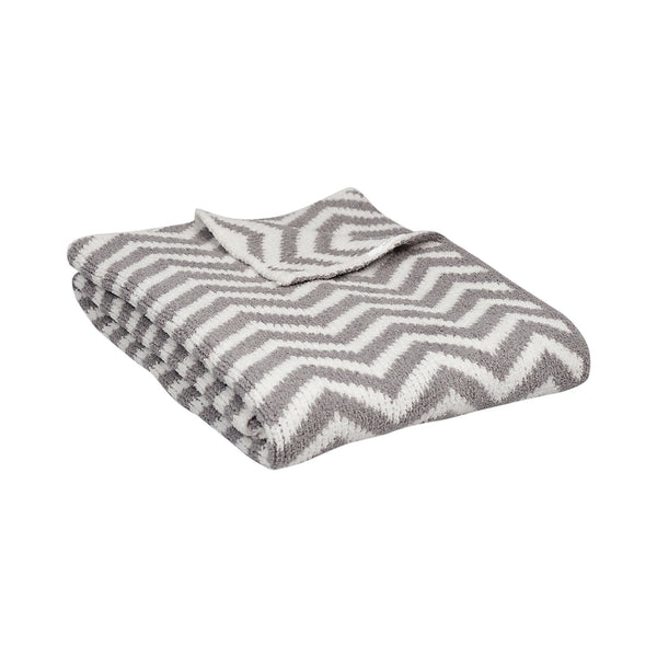 Living Textiles Baby Chevron Blanket - Grey