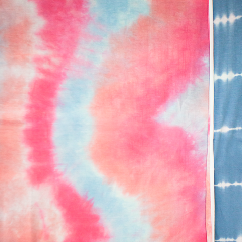 multi tie dye / bubblegum - bluebird  / LE