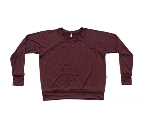 burgundy / brushed / pullover shirt