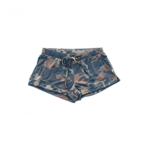 camo / shorts / (olive-brown)