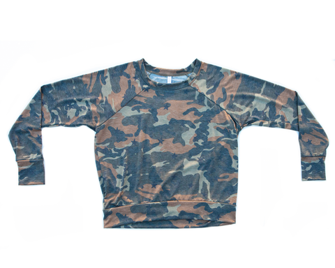 camo / pullover shirt / (olive/brown)