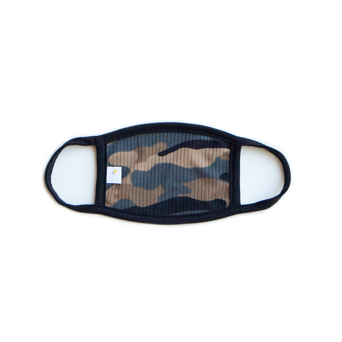 camo / kids face mask