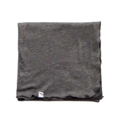 charcoal swaddle + beanie