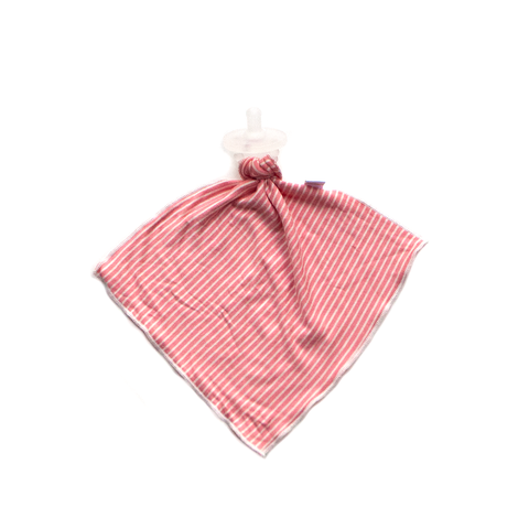 pin stripe / coral / detachable goosie