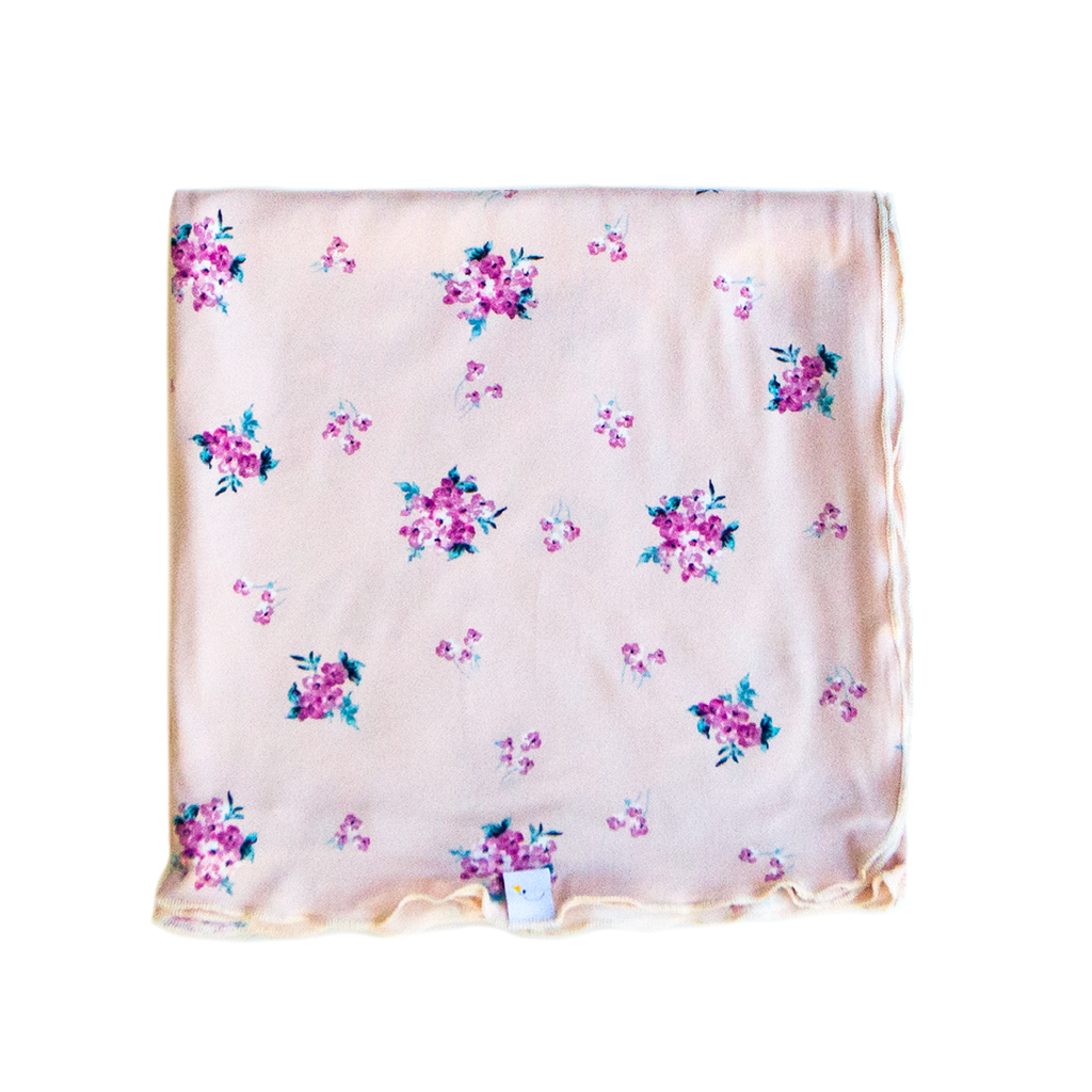 flower child swaddle + headband