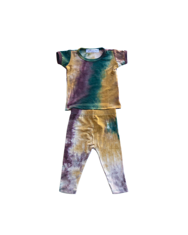 golden / two piece skinny / short sleeve