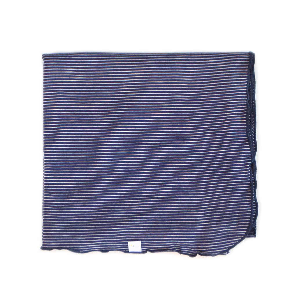 pin stripe / navy / swaddle