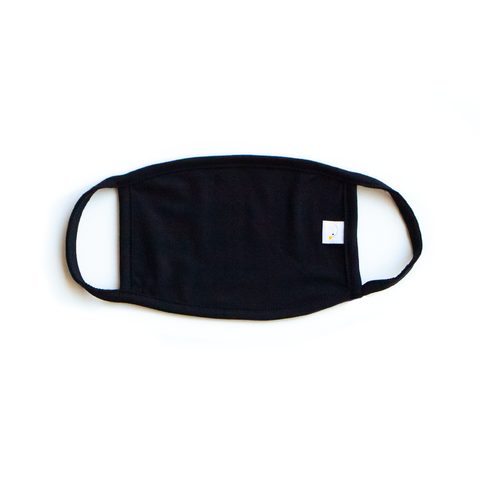 jet (solid black) / face mask