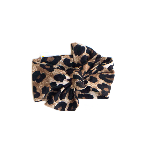 leopard / knotted headband