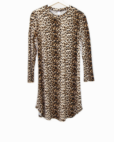 leopard / 'around the clock' dress