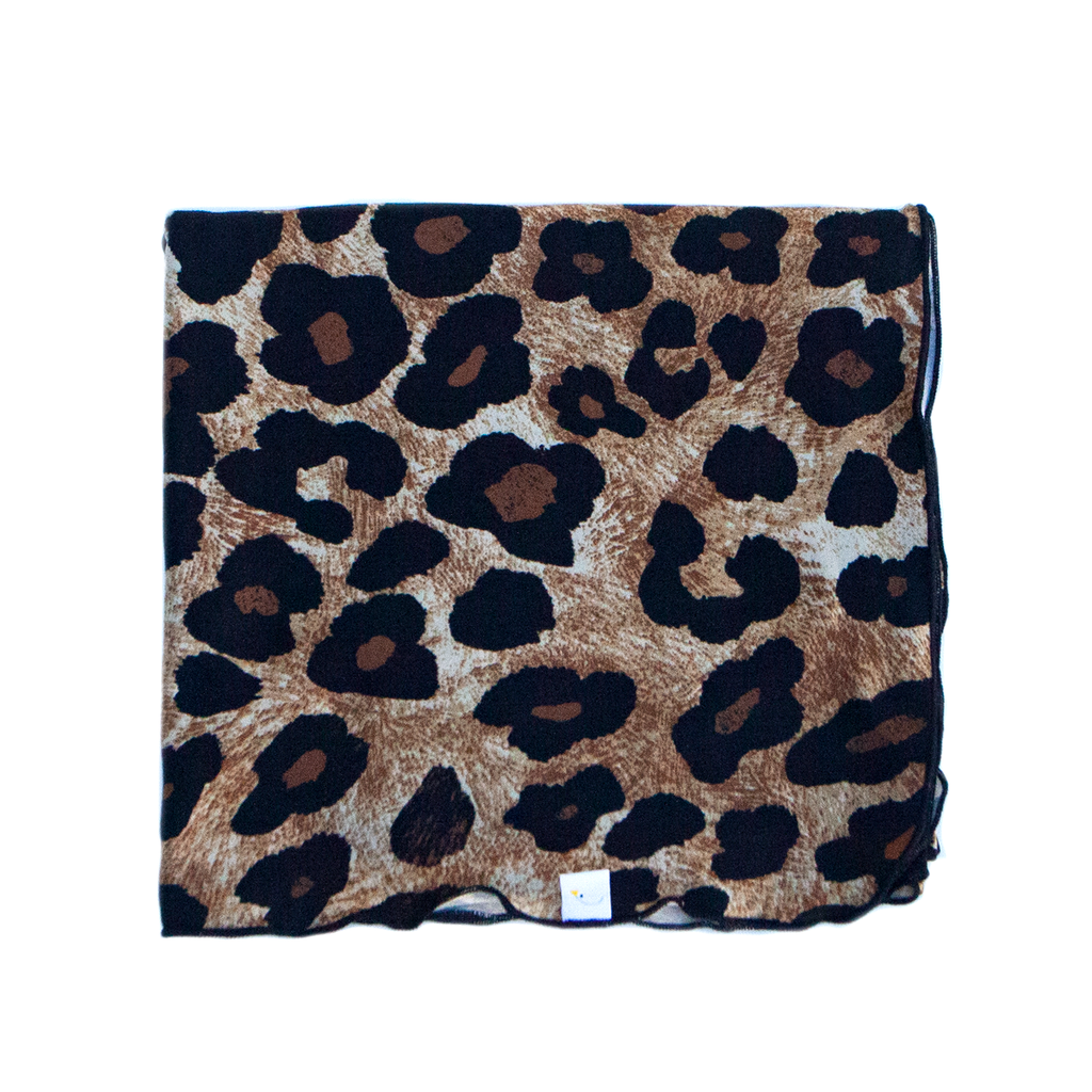 leopard / large print / swaddle