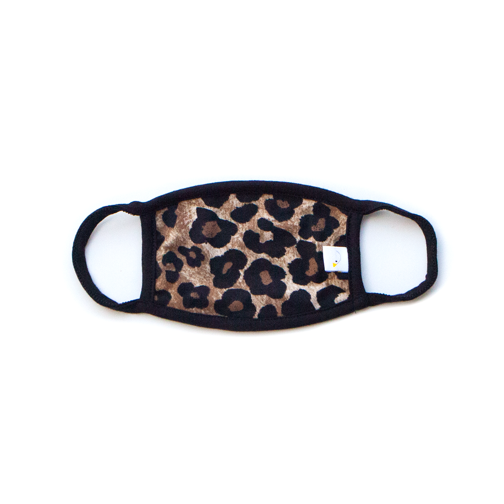 leopard / kids face mask