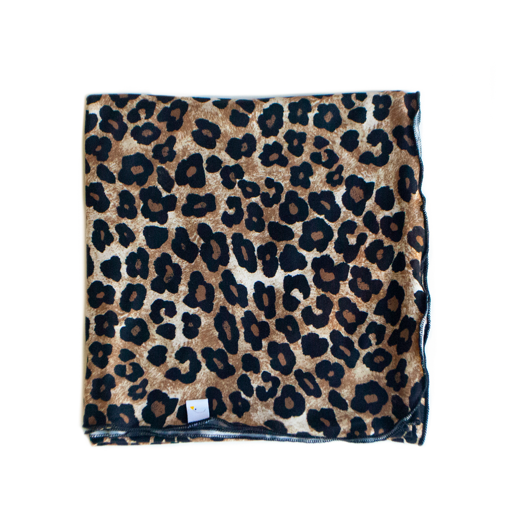 leopard swaddle + headband