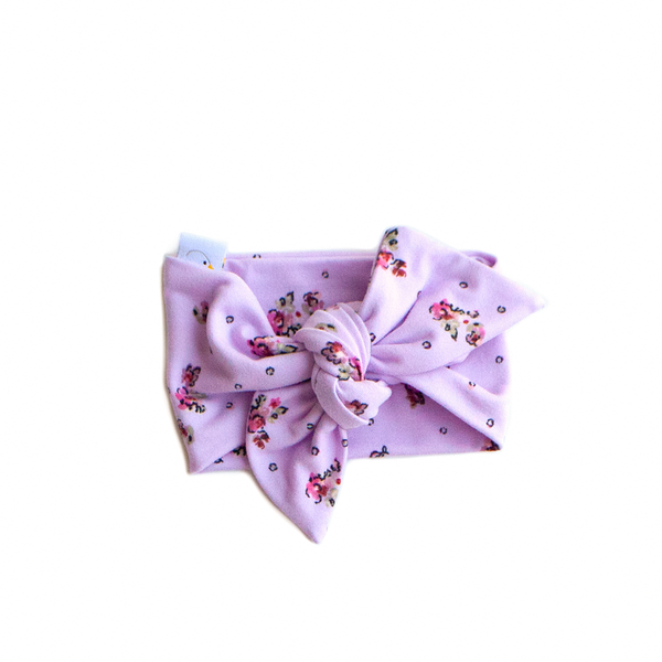 lilac fields swaddle + headband