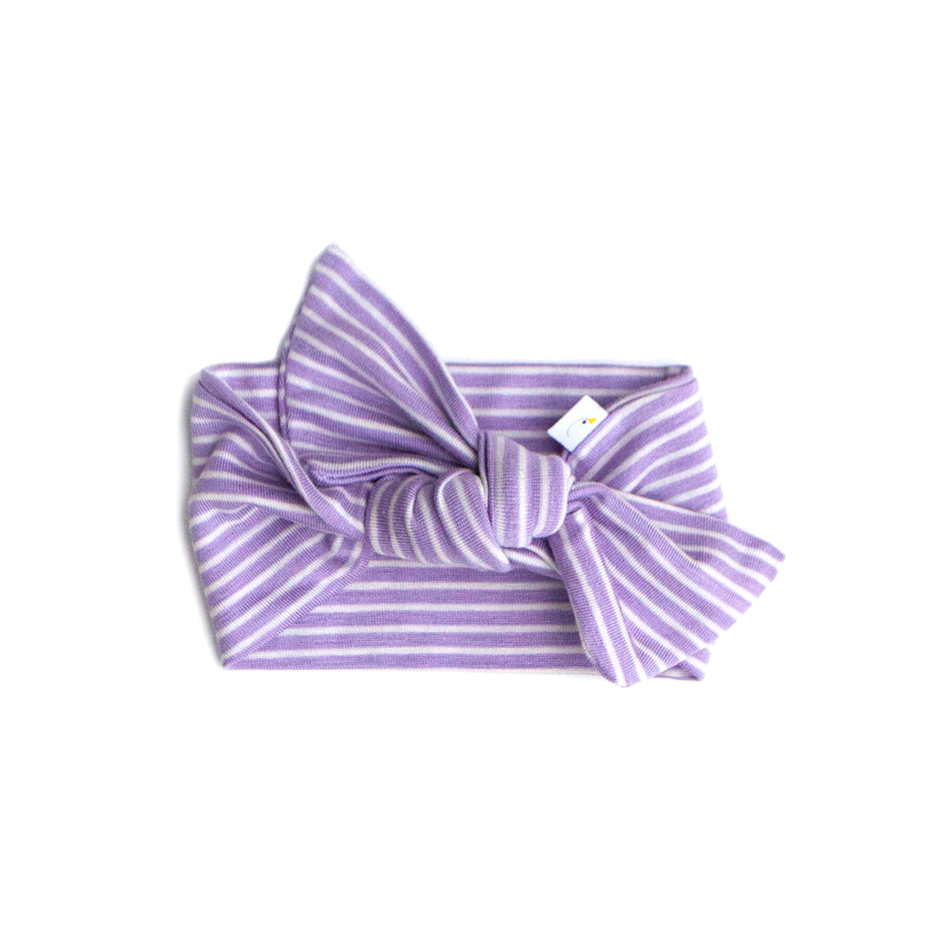 pin stripe / lavender  / knotted headband