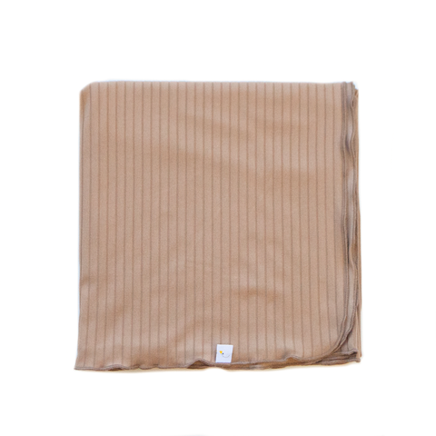 luxe / tan / swaddle + beanie set
