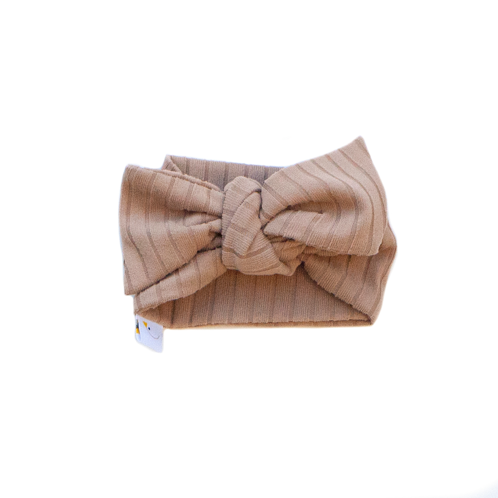 luxe / tan / knotted headband