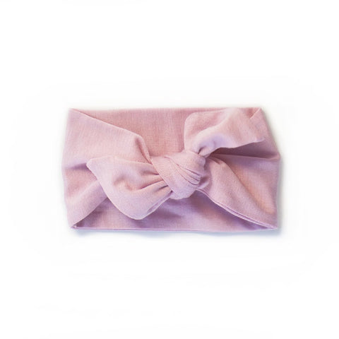 mauve - knotted headband