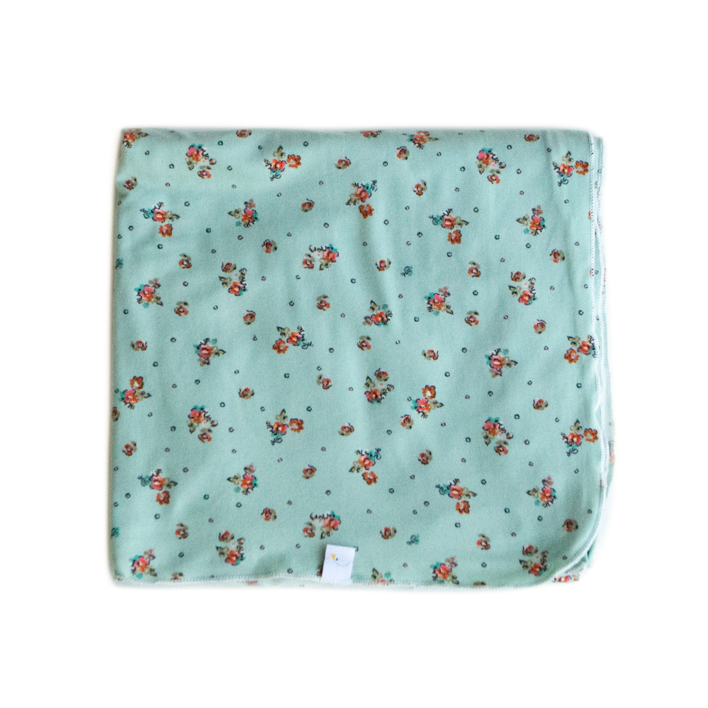 mint bliss swaddle + headband