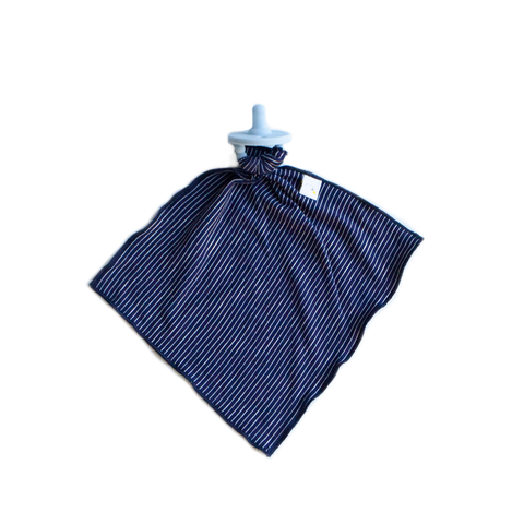 pin stripe / navy / detachable goosie