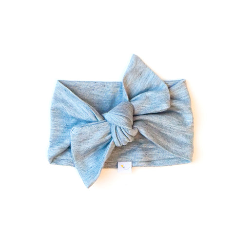 pacific blue / knotted headband