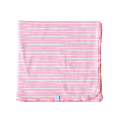 pink stripes swaddle