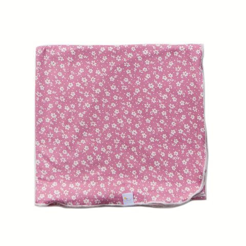 poppy / pink swaddle + headband set