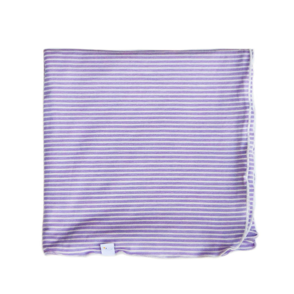 pin stripes / lavender / swaddle + headband