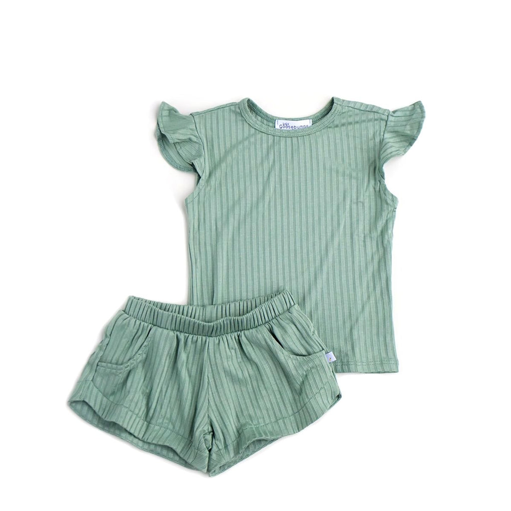 spearmint / short set